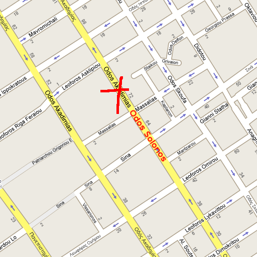 Google Map correction of akadimias street